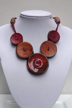 Button Necklace Button Jewelry Button by PommeRoseJewellery, $32.00