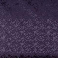 Shell Fan Fabric Upholstery Decor Dark Blue Drapery Vtg Designer By The Yard #Unbranded