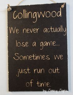 Collingwood Football Footy Signs by Saucy Signs - Saucy Signs