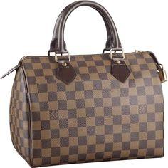 Authentic Louis Vuitton Speedy 25 Damier Ebene Canvas N41532