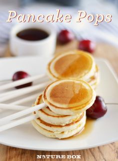 Looking for a fun easy cooking activity to do with your kids?  Pancake Pops are the ideal way to serve pancakes to kids!