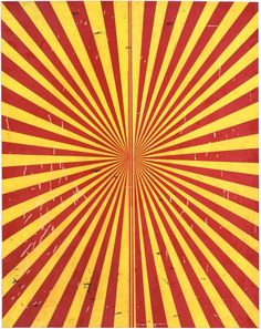 Mark Grotjahn Untitled (Crimson Red and Canary Yellow Butterfly 796), 2009