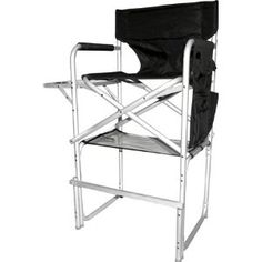 Stylish Camping CH1310 Tall Director Chair With Full Back   Heavy Duty  Folding Chair With