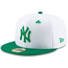 b5080acbd Men's New York Yankees New Era White/Kelly Green 2019 St. Patrick's Day  On-Field 59FIFTY Fitted Hat, $39.99