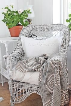 Grey Wicker Chair