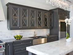 AyA Kitchens | Canadian Kitchen and Bath Cabinetry Manufacturer | Kitchen Design Professionals - Allegra Anthracite in Classic Traditional
