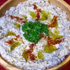 mutabal (egg plant dip) Syrian cuisine, I could eat a vat of this dip yum
