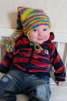 Kostenlose Häkelanleitung für eine Babymütze als Zipfelmütze   kreativbunt