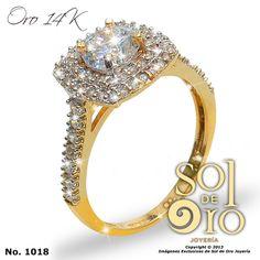 Anillo de compromiso oro 14k RD$9,800