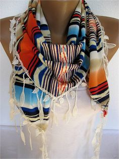 ON SALE   Multicolor Scarf triangular Scarf Gift by SmyrnaShop, $9.90