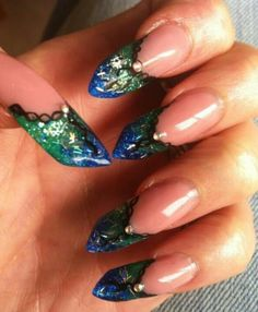 These were done on me by Cheryl from Wicked nails love them