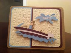 """I totally """"scraplifted"""" this one. Fun in the Sun Cricut cartridge. Splat is from Pack Your Bags Cricut cartridge."""