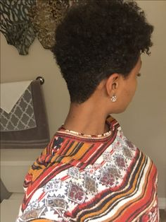 Tapered natural hair cut! Tapered Natural Hair Cut, Short Natural Curly Hair, Tapered Afro, Short Curls, Short Hair Cuts, Curly Hair Styles, Natural Hair Styles, Beautiful Black Hair, Pelo Afro