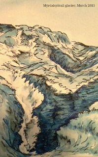 Angela Elizabeth Harding. Art journal, iceland 2015.