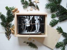 3 pcs set of 3 natural wood print boxes for 4x6 (10x15cm) photos with sliding lid, natural wood 4x6 print box, wood 10x15 print box
