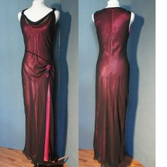 Upcycled Vintage Holiday Dress / Gown Fusia w/ by EnergyAndPeace,