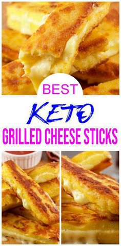 BEST Keto Grilled Cheese Sticks – Low Carb Keto Grilled Cheese Recipe – 90 Second Microwave Bread For Easy Ketogenic Diet - Keto Grilled Cheese Sticks! EASY grilled cheese sticks recipes w/ few ingredients for BEST grilled - Grilled Cheese Sticks, Cheese Sticks Recipe, Keto Grilled Cheese, Keto Cheese, Grilled Bread, Grilling Recipes, Keto Recipes, Bread Recipes, Healthy Low Carb Recipes