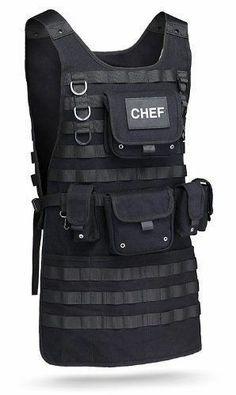 Tactical BBQ Apron Preppers Police Swat Survival Camper Fancy Dress ThinkGeek