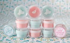 pink and blue homemade lip balm...linked to recipe!