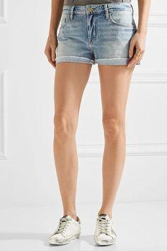 FRAME - Le Grand Garcon Denim Shorts - Light denim