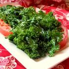 This is the first way I ever cooked kale, and I love it. Lightly steam/wilt it in some olive oil and stir in some roasted garlic. I add a splash of soy sauce and it's amazing, especially with Asian-flavored dumplings.