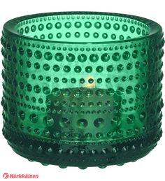Iittala Kastehelmi kynttilälyhty Smaragdi 12,90e