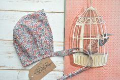 Floral bonnet. https://www.facebook.com/lillyrosekids/ https://www.instagram.com/lillyrose_kids/
