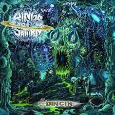 """Rings of Saturn - Dingir. Tech Death metal, and jokingly """"Alien Core"""". Rock N Roll, Heavy Metal Art, Black Metal, Rings Of Saturn, Cool Album Covers, Band Wallpapers, Metal Albums, Metal Artwork, Band Posters"""
