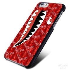 GOYARD Print Red shark iPhone Cases Case