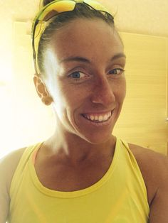 Hi I am Agnieszka Jerzyk and the Yellow is a colour of our Triathlon Team called #JabraTriathlonPoland
