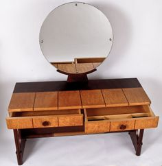 Robert Rasmussen Danish Deco Dressing Table | From a unique collection of antique and modern vanities at http://www.1stdibs.com/furniture/tables/vanities/
