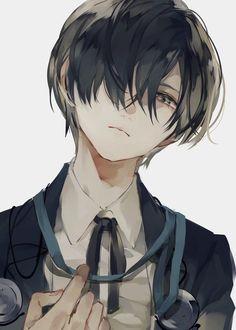Hot Anime Boy, Dark Anime Guys, Cool Anime Guys, Handsome Anime Guys, Black Hair Anime Guy, Anime Cat Boy, Anime Boy Hair, Anime Oc, Kawaii Anime