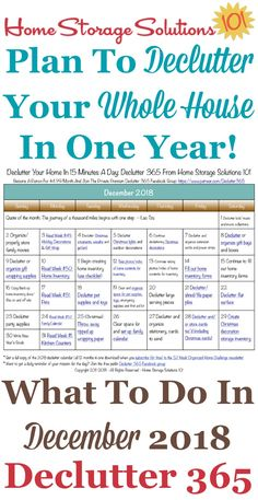 December Declutter Calendar 15 Minute Daily Missions For Month