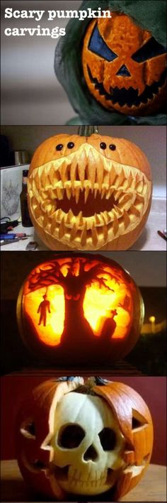 Scary pumpkin carving ideas!