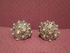 Hey, I found this really awesome Etsy listing at https://www.etsy.com/listing/197733990/vintage-button-clip-earrings-brushed