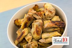 Total 10 Crunchy Artichoke Hearts: Add this dish to your next meal for a rich source of folate, fiber, vitamins C and K!