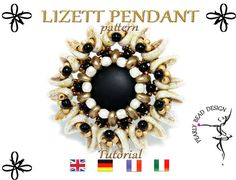 LIZETT PENDANT pattern with Chilli beads, DIY tutorial by PearlyBeadDesign on Etsy