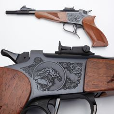 Thompson/Center Contender pistol- Now part of Smith & Wesson, the… Rifle, Thompson Center, Hand Cannon, Hunting Guns, Fire Powers, Smith Wesson, Cool Guns, Guns And Ammo, Self Defense