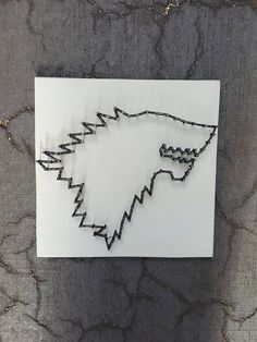 Game of Thrones String Art by Stressed Out Studios Hey, I found this really awesome Etsy listing at https://www.etsy.com/listing/529852231/game-of-thrones-stark-house-string-art