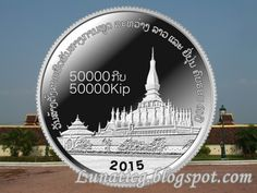 60th anniversary of Laos and Japan diplomatic relations silver coin