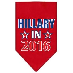 Mirage Pet Products Hillary in 2016 Election Screenprint Bandanas Red Large * Find out more about the great product at the image link.