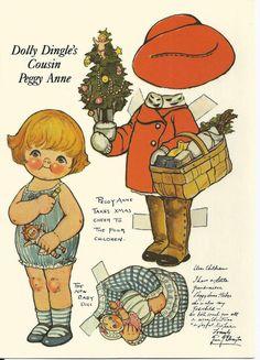 Dolly Dingles Cousin Peggy Anne Paper Doll Illustration by Grace G Drayton 1984 | eBay
