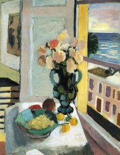 Flowers in front of a Window ~ Henri Matisse, 1922......
