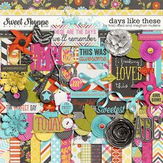 Digital Scrapbook Kit, Days like these by Traci Reed & Meghan Mullens