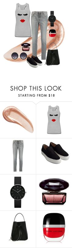 """""""Untitled #68"""" by tammy-stacey ❤ liked on Polyvore featuring Charlotte Tilbury, dVb Victoria Beckham, Chloé, Newgate, Versace, 3.1 Phillip Lim, Marc Jacobs and Alice + Olivia"""
