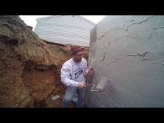 The Best Basement Waterproofing: Easy - DIY Coating - Block Foundation - Exterior Waterproofing Basement Waterproofing Paint, Leaking Basement, Wet Basement, Drain Tile, Basement Entrance, Get Rid Of Mold, Foundation Repair, French Drain, Exterior Makeover