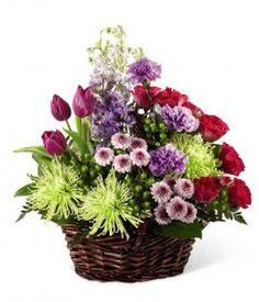 10 best flower baskets images on pinterest flower baskets spring 487b5e0b8c34f6fb526a244d3dbad1fc flowers delivered sympathy flowersg mightylinksfo