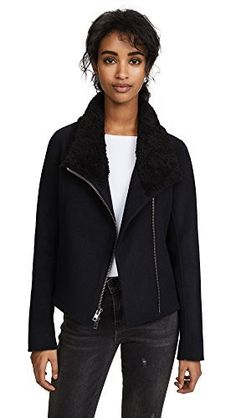 "Made from soft brushed wool-blend with a shearling collar and left unlined for lightness.   	 		 			 				 					Famous Words of Inspiration...""It was when I was happiest that I longed most...The sweetest thing in all my life has been the longing...to find the place where all the beauty came...  More details at https://jackets-lovers.bestselleroutlets.com/ladies-coats-jackets-vests/wool-pea-coats/product-review-for-vince-womens-double-face-scuba-jacket/"