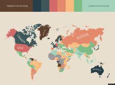 「生活費が高い国」トップ20に日本もアメリカも入っていない 1位は?(インフォグラフィック)