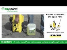How to use detergent in your karcher pressure washer, BuySpares 'how to videos'.